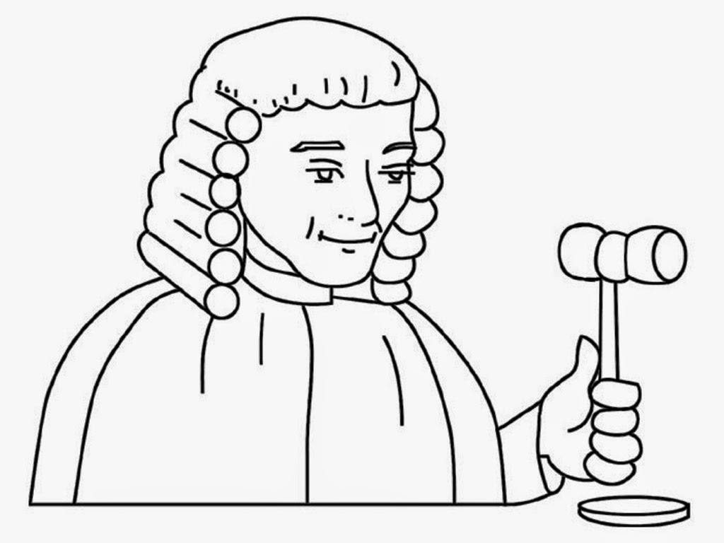 1024x768 Judge Coloring Pages