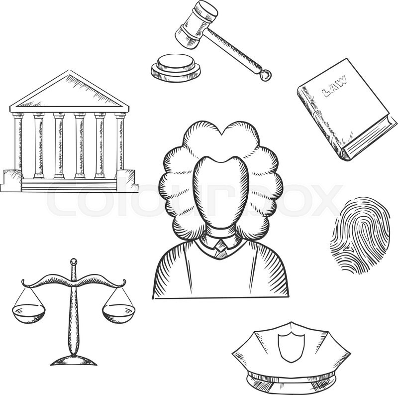 800x793 Lawnd Justice Sketch Icons Surrounding Lawyer