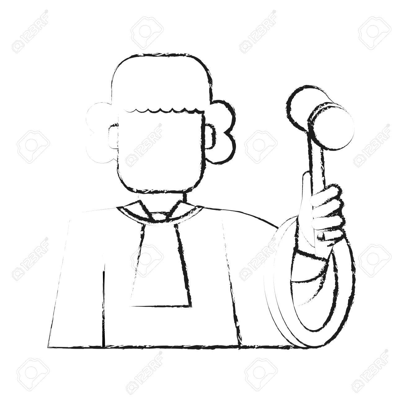 1300x1300 Blurred Silhouette Faceless Man Judge With A Hammer Vector