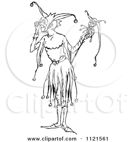 450x470 Royalty Free (Rf) Court Jester Clipart, Illustrations, Vector