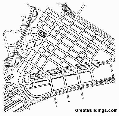 395x387 Great Buildings Drawing