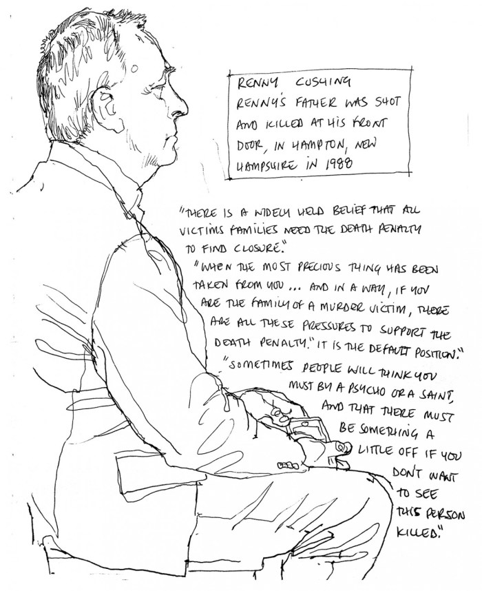 700x858 Richard Johnson Courtroom Drawings From The Tsarnaev Death