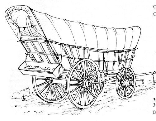 Covered Wagon Drawing
