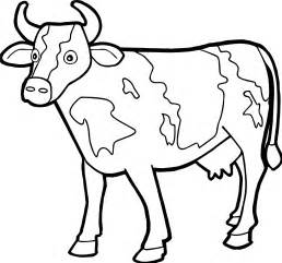 258x241 Free Calf Farm Animal Coloring Pages