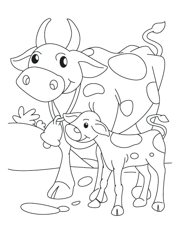 612x792 Golden Calf Coloring Page Golden Calf Coloring Page Cow Mother