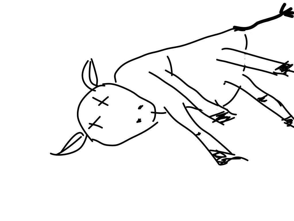 1024x768 Drawing Dead Cows Nine Dot Dance