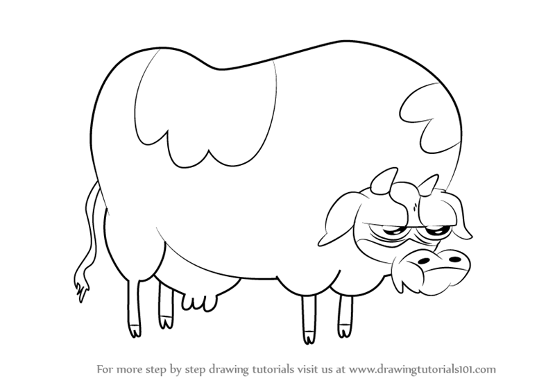 800x565 Learn How To Draw Cow From Bravest Warriors (Bravest Warriors