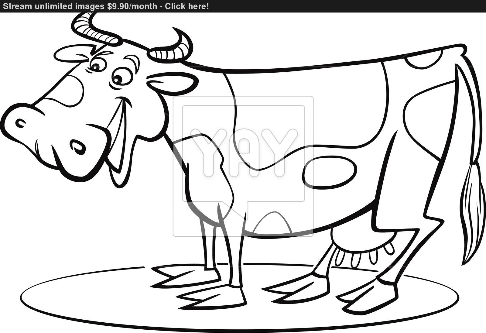 Cow Drawing Cartoon at GetDrawings.com | Free for personal use Cow ...