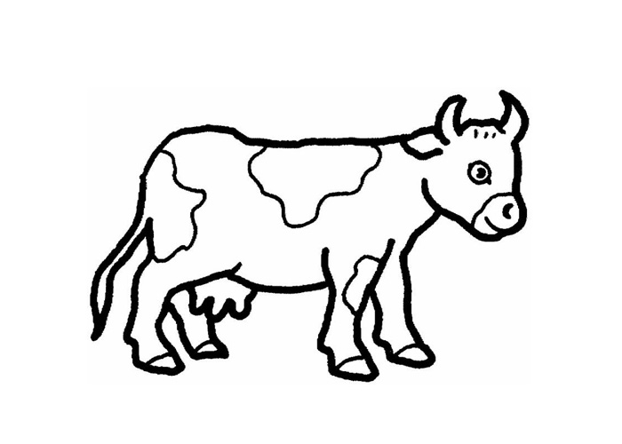 700x500 Cartoon Cow Coloring Pages