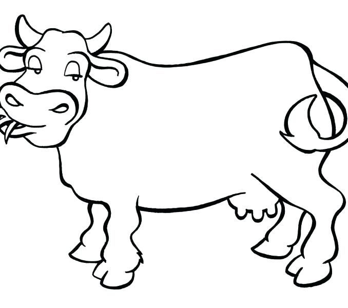 678x600 Cow Printable Coloring Pages Coloring Pages Cow Cow Coloring Pages