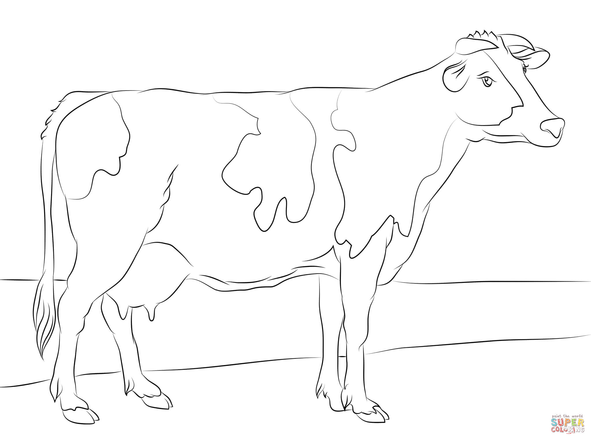 2046x1526 Holstein Cow Coloring Page Free Printable Coloring Pages
