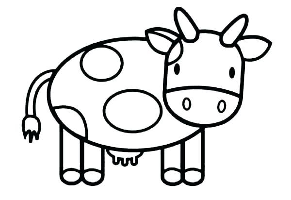 600x412 Cow Coloring Pages