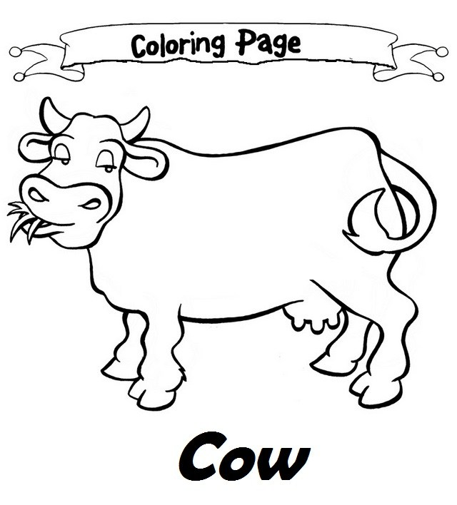 Cow Drawing For Kids