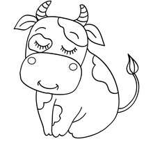 220x220 Cow Coloring Pages, Drawing For Kids, Reading Amp Learning, Free