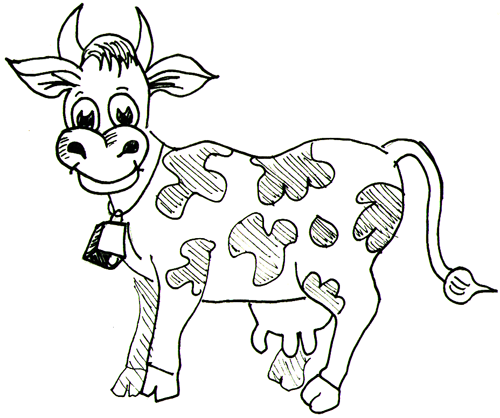 500x418 How To Draw A Simple Cow