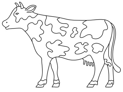 400x300 Draw, How To Draw Cow Coloring Pages Video For Kids, How To Draw