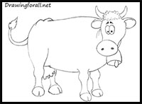 200x147 How To Draw Cows Drawing Tutorials Amp Drawing Amp How To Draw Cows
