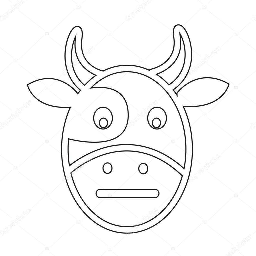 Cow Face Drawing at GetDrawings com | Free for personal use