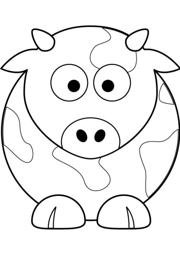 724x1024 Cow Picture To Color. Cow Coloring Page. Grazing Cow Coloring Page