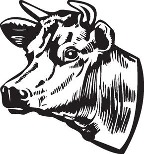 290x310 Cow Decal Animals Mix Animal Decals Decals Custom