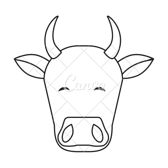 550x550 Indian Cow Head