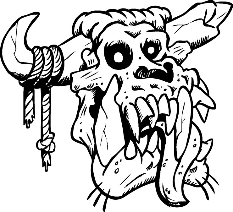 741x675 Zombie Cow Skull Printable Image Illustration Sketch For Zombie