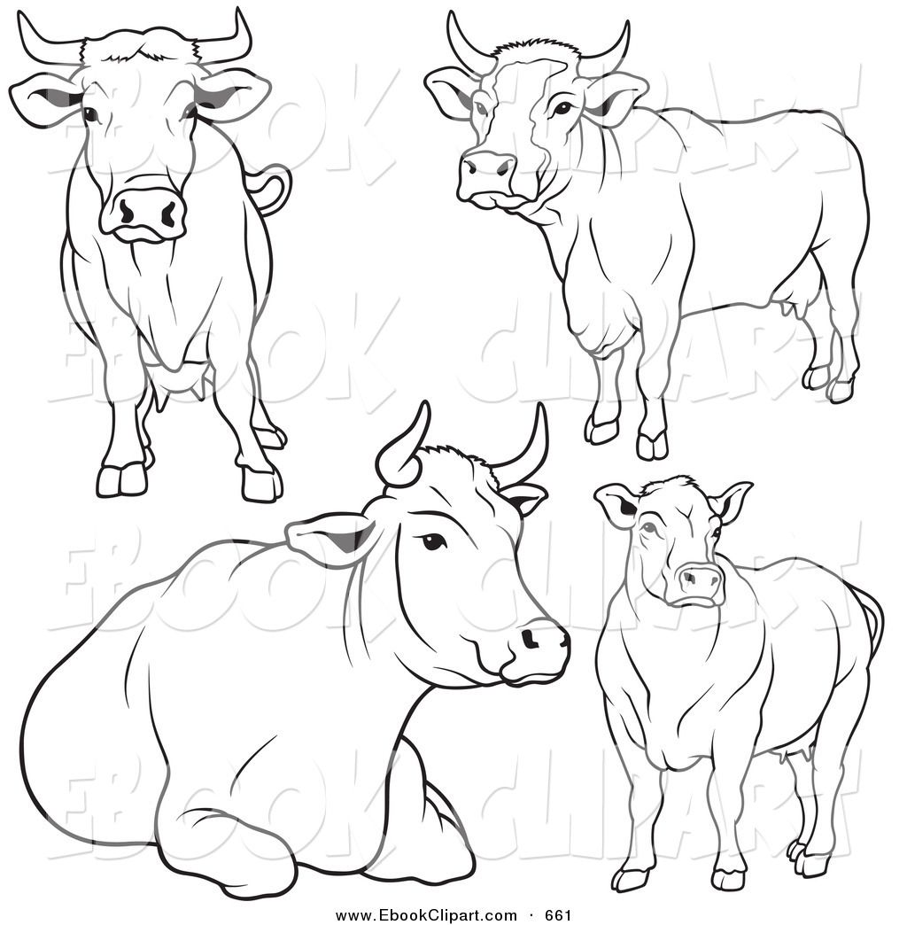 1024x1044 Great Set Of Cows Farm Animals Cow, Drawings