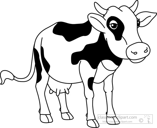 Cow Outline Drawing