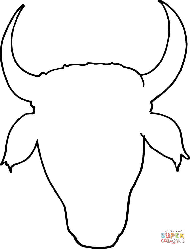 774x1016 Cow Head Outline Coloring Page Free Printable Coloring Pages