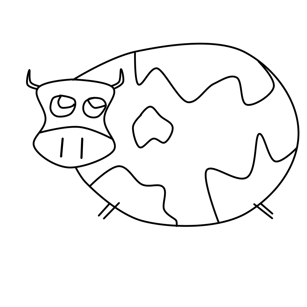 Cow Outline Drawing at GetDrawings.com | Free for personal use Cow ...