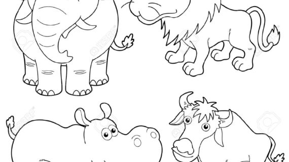 570x320 Out Line Drawing Of Animals Cow Calf Outline Drawing Clipart