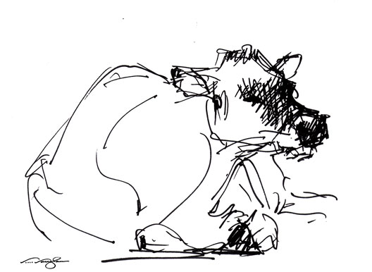 528x386 V .vaughan's Small Works Quickie 2 Cow, Sketch, Pen
