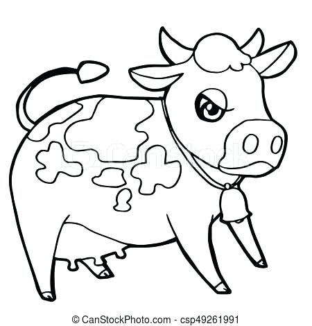 450x470 Coloring Book Cow