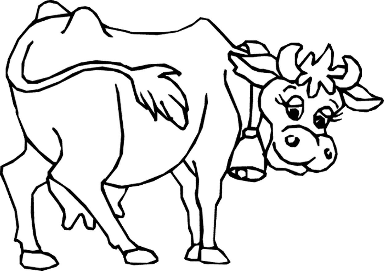 1246x879 Coloring Pages Printable Cow