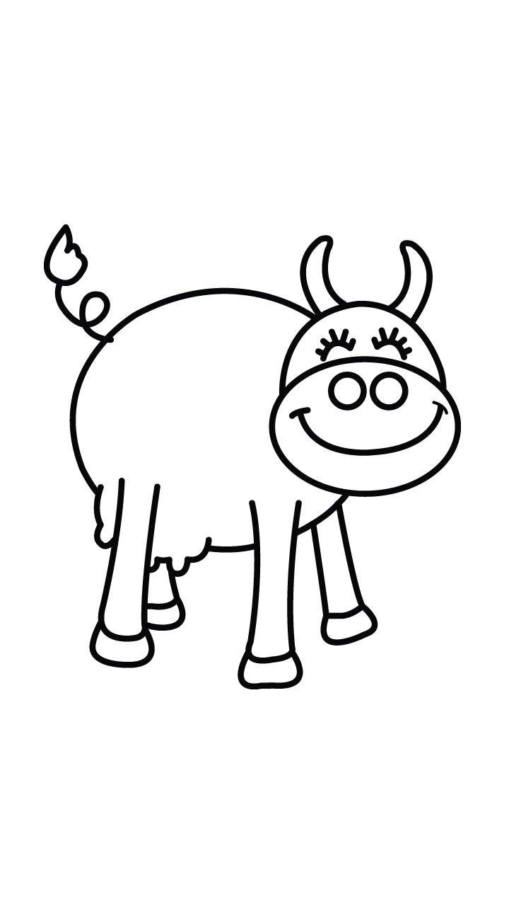 720x1280 How To Draw A Cow, Easy Step By Step Drawing Tutorial