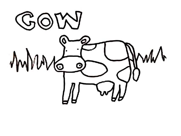 600x453 Kids Drawing Of Cow Coloring Page
