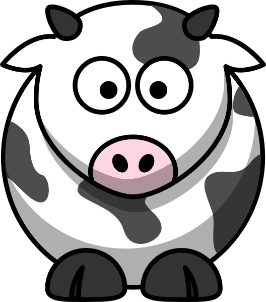 528x598 Cartoon Cow Clip Art Free Vector In Open Office Drawing Svg ( Svg