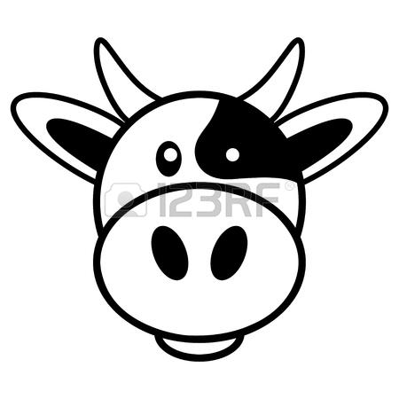 450x450 Simple Cartoon Of A Cute Cow Royalty Free Cliparts, Vectors,