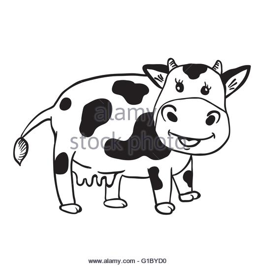 520x540 Cow Horns Stock Vector Images