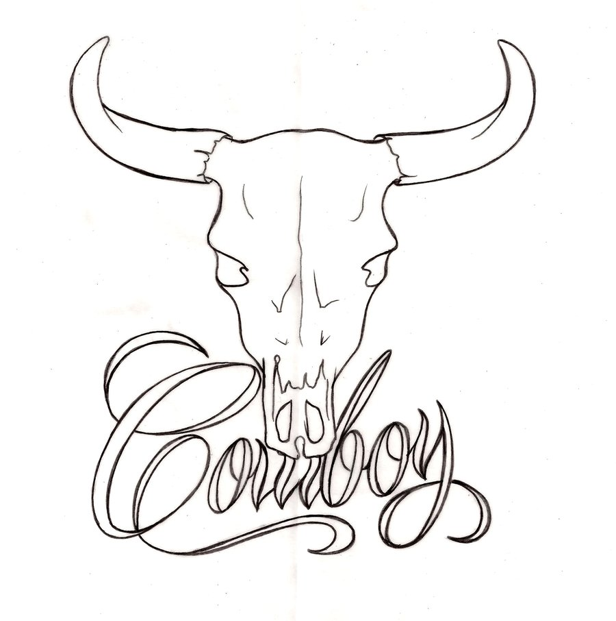 Cow Skull Drawing