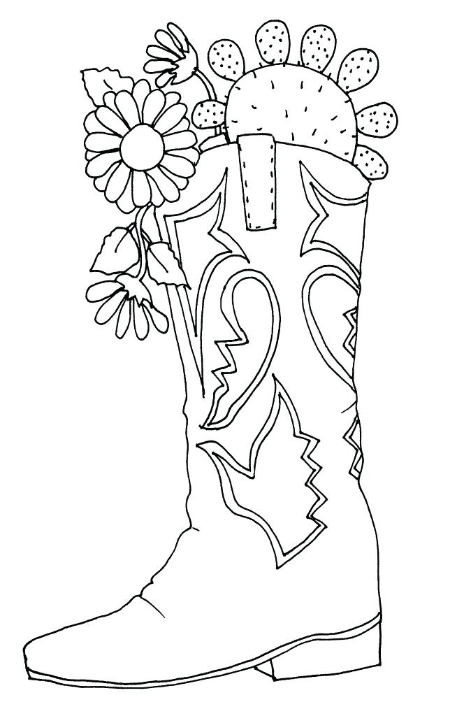 654x1024 Best Cowboy Boot Coloring Page Fee Boots Drawing Ideas On Hat