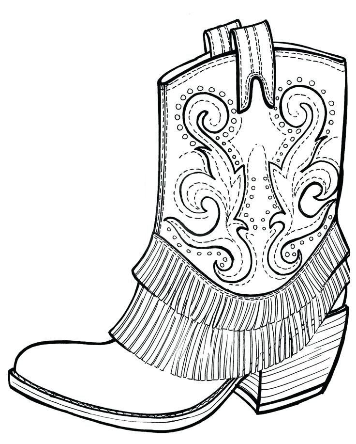 736x916 Cowboy Boots Coloring Pages X Cowboy Boots Coloring Sheets