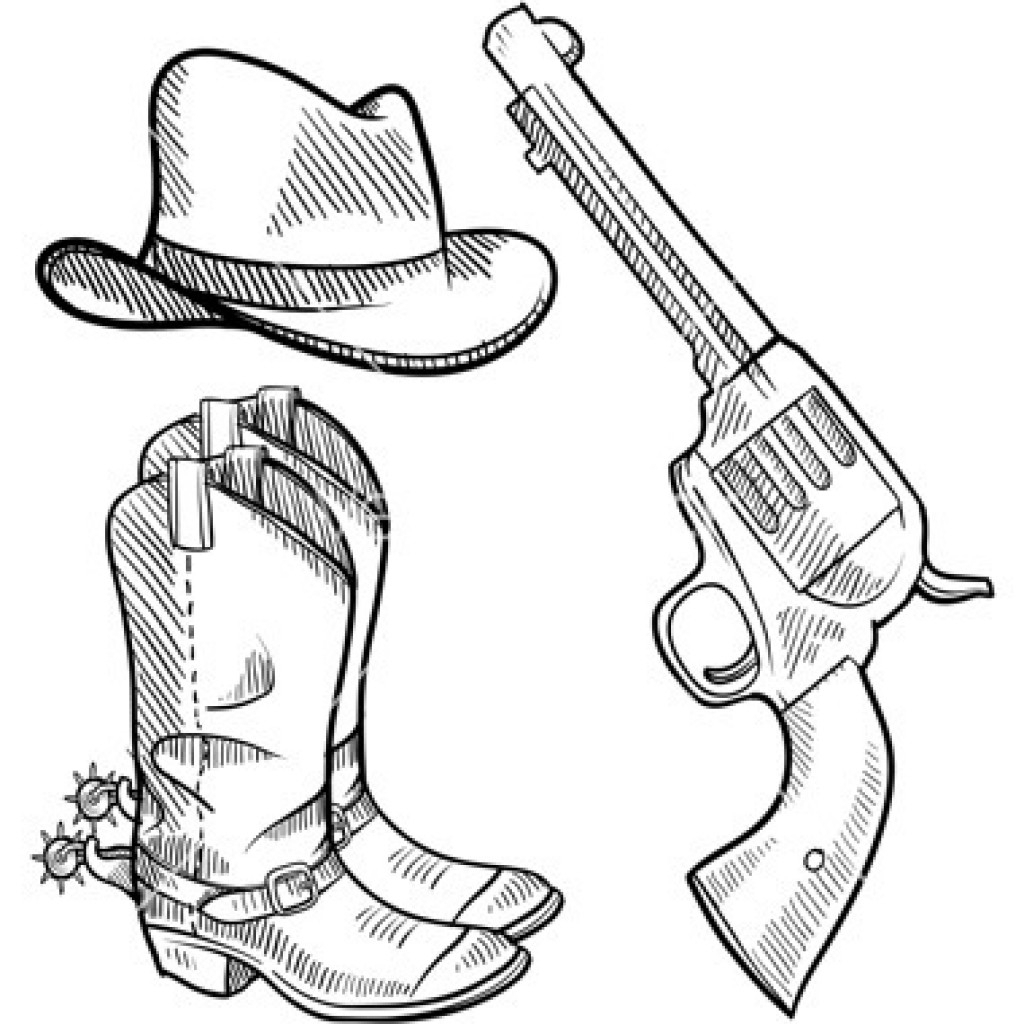 1024x1024 Cowboy Boots Drawing Drawings Of Cowboy Boots Group