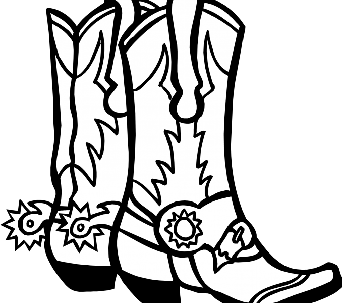 678x600 How To Draw Cowboy Boots Kids Coloring