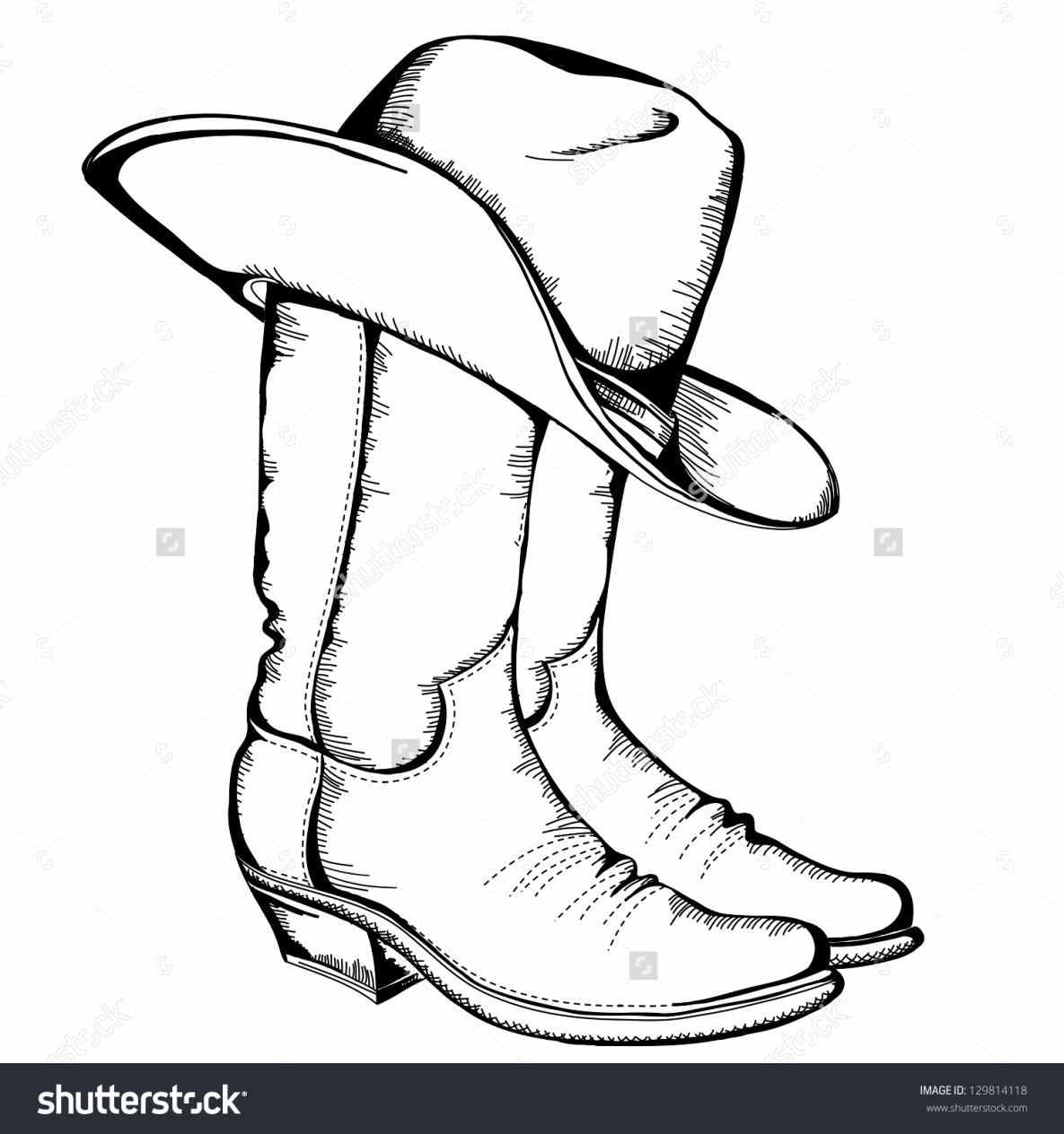1185x1264 Of Group S Simple Cowboy Boot Drawing Of Group Clip Art And Hat
