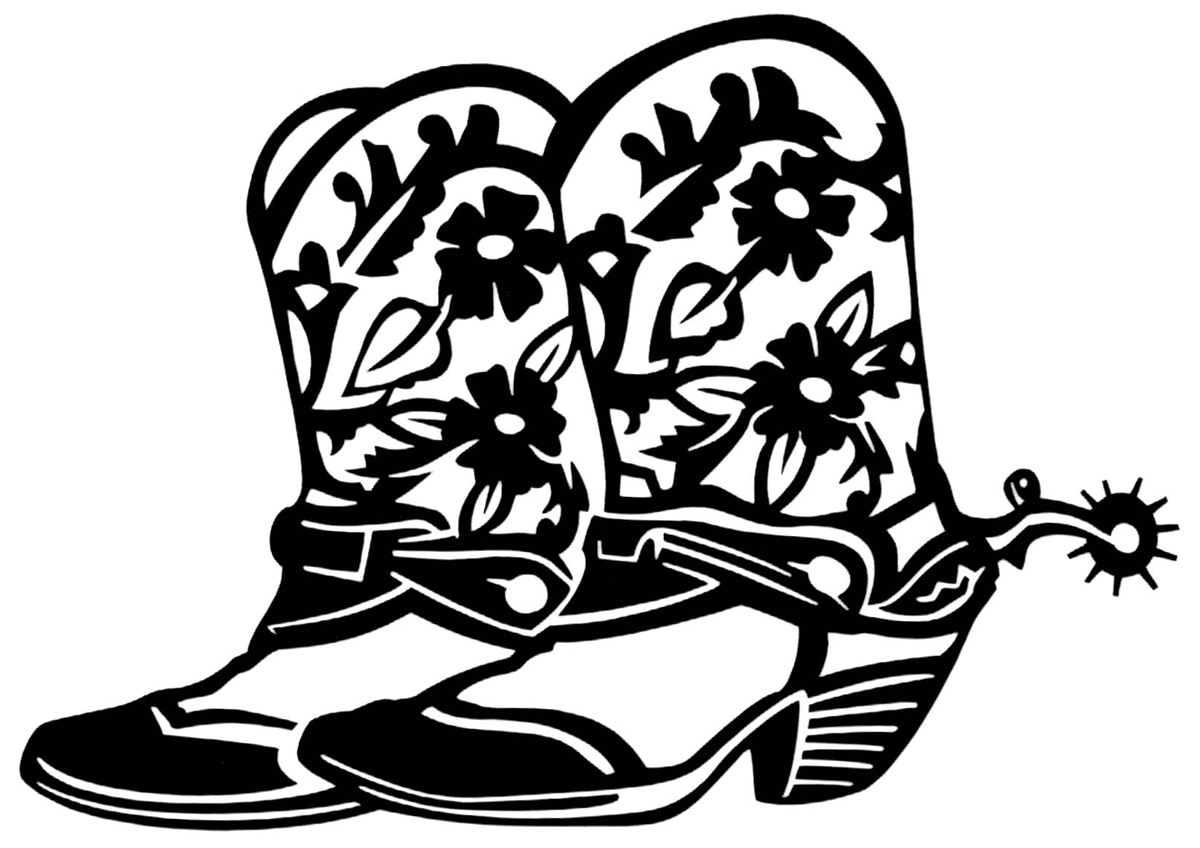 Cowboy Boot Drawing at GetDrawings.com | Free for personal use ...