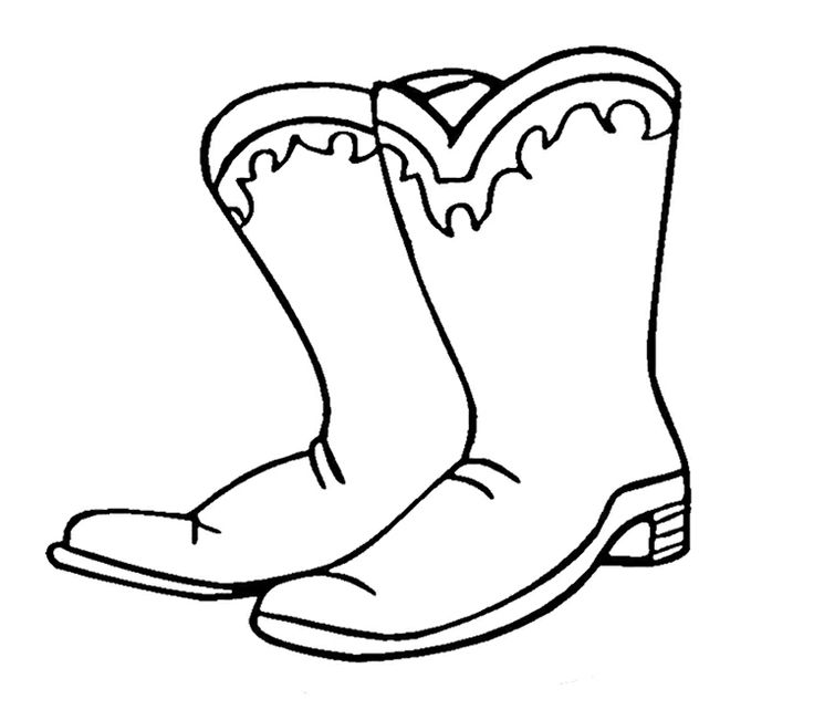 736x651 Stunning Cowboy Boots Coloring Pages To Print Pictures Inspiration