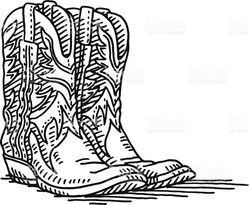 800x660 Cowboy Boot Clipart Black And White
