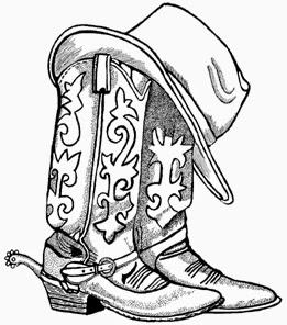 261x296 Cowboy Hat And Boots Clipart Cowboy Clipart Middot Cowboy Hat