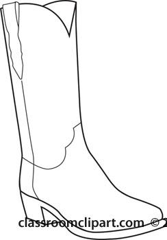 244x350 Cowboys Clipart Cowboy Boot Outline 2011